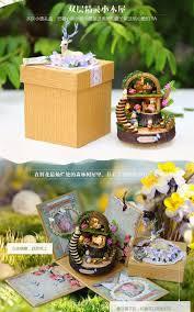Diy Dollhouse Furniture Diy Doll House Fantasy Forest Miniature Wooden Building Model