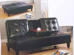Leather Click Clack Sofa Black Click Clack Sofa Bed With Cup Holder