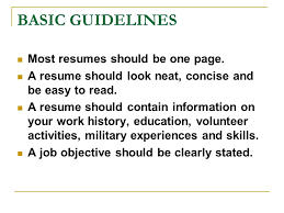 Should A Resume Be Only One Page Resume Writing Workshop Introduction You Only Get One Chance To