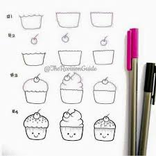 25 cupcake drawing ideas draw