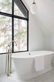 Oval Bathtub Oval Marble Tiles With Oval Bathtub Transitional Bathroom