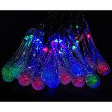 led concepts solar style string lights 30 led water drop