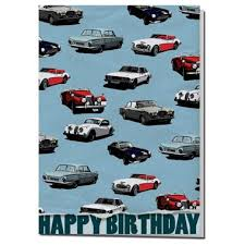 car wrapping paper classic car wrapping paper birthday card artwords design