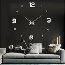 Wall Clock For Living Room by 2017 Special Large Diy Quartz 3d Wall Clock Living Room Big