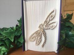 Unique Dragonfly Gifts Folded Book Art With The Letter R Book Sculpture Unique By Dreamit