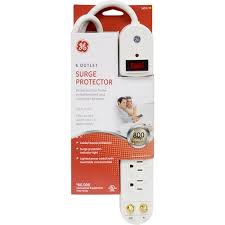 ge surge protector red light ge 6 outlet surge protector with coax protection white jasco