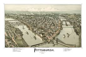 Map Of Pennsylvania Beautifully Restored Map Of Pittsburgh Pa From 1902 Knowol
