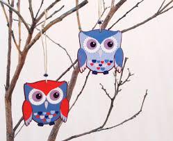 Owl Home Decorations Sweet Nest Design Shop Blue Owl Ornament