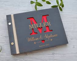 engraved guest book engraved guestbook etsy