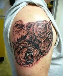 11 best 3d bear tattoo images on pinterest bear tattoos 3d leg