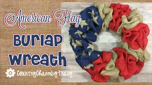 halloween burlap wreath american flag burlap wreath youtube
