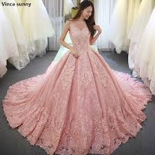 pink wedding dress vinca pink gown wedding dresses vestido de noiva