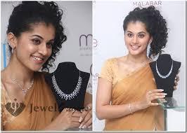 malabar diamond earrings tapsee in malabar diamond jewellery set jewelorigins indian
