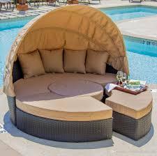 online cheap outdoor rattan wicker round bed outdoor wicker lying