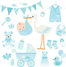 baby boy shower and baby items stock vector art 518397362 istock