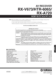 rx v673 htr6065 rx a720 pdf solder power supply