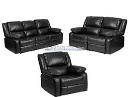 Reclinable Chair Leather Recliner Lazy Chair Loveseat Sofa Set Living Room Furniture