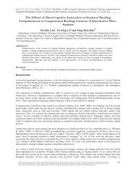 how to write a meta analysis research paper the effects of meta cognitive instruction on students reading the effects of meta cognitive instruction on students reading comprehension in computerized reading contexts a quantitative meta analysis pdf download