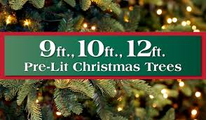 9 10 to 12 ft pre lit artificial trees i island
