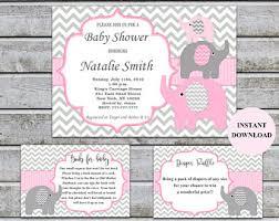 printable baby shower invitations elephant baby shower invitation etsy