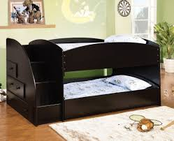 Bunk Bed With Trundle Furniture Of America Cm Bk921bk T Merritt Black Finish Wood