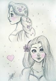 rapunzel profile sketches by nightmonster123 on deviantart