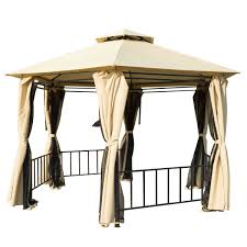 Gazebo Curtain Ideas by Metal Gazebo With Curtains Ideas Home Design And Decor