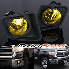 2016 toyota tundra fog light bulb for 2014 2016 toyota tundra jdm yellow lens fog lights bumper