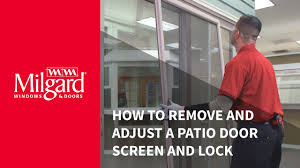 how to remove and adjust a patio door screen and lock youtube