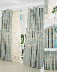 floral jacquard fiber bedroom window length curtains
