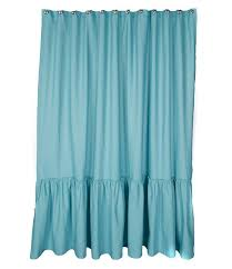 Turquoise Ruffle Curtains Shower Curtains Everything Turquoise