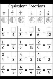 equivalent fractions worksheets grade 4 worksheets