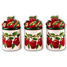 apple canisters for the kitchen apple canister set apple canister set