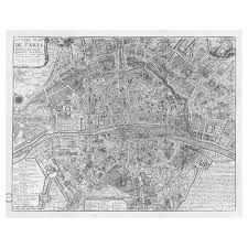 swag paper map of 1705 huitieme plan de paris self adhesive