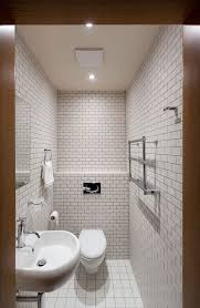 apartments white bathroom design with brick wall bathroom tile