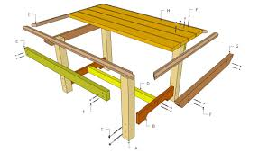 Diy Table Plans Free by Triyae Com U003d Backyard Table Plans Various Design Inspiration For