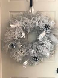 white deco mesh winter wreath winter deco mesh wreath deco mesh wreath white
