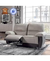 canapé relax électrique cuir canapé relaxation électrique 2 à 3 places cuir et microfibre