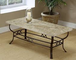 coffee table with iron base wrought iron coffee table with nature stone top coffee tables