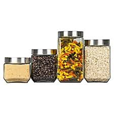 square kitchen canisters food storage cookie jars canister sets glass bowls with lids