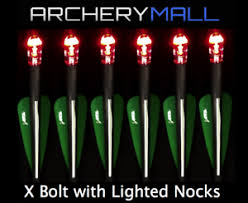20 crossbow bolts with lighted nocks 6 victory crossbow arrows 4 fletching 20 22 long with red