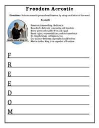 acrostic poem templates for martin luther king day mlk by