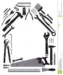 tools in shape of house stock photos image 36095643