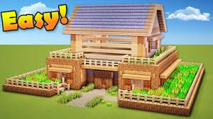 minecraft how to build a survival house wooden house tutorial