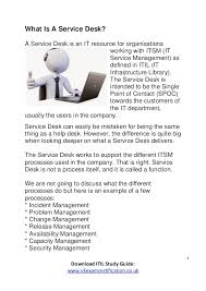 what is service desk what is a service desk itil v3 itil 2011