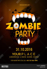 halloween 2016 background happy halloween zombie party celebration template banner or