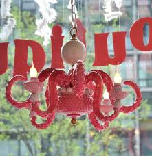 Adam Wallacavage Octopus Chandelier For Sale by Adam Wallacavage Amberella Gallery