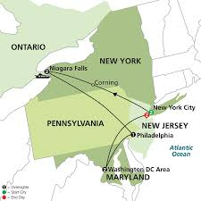 Overview Map Of New York City by Cosmos Tours New York Niagara Falls U0026 Washington Dc With