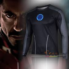 Marvel Super Heroes Clothing Marvel Mens Superhero Stretch T Shirts Sports Base Layer Cycling