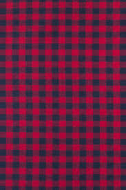 cotton flannel and navy plaid fabric